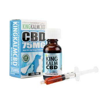 King Kalm CBD Oil for Dogs and Cats by King Kanine - 75mg 30ml